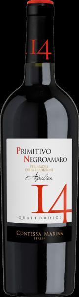 Primitivo Negroamaro Puglia IGT 14 Cont Marina