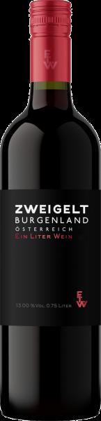 Zweigelt Burgenland QUW Ein Liter Wein 1,0l Aigner Rotwein trocken   Saffer's WinzerWelt